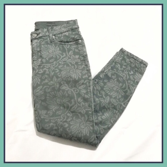 7 For All Mankind Denim - 7FAM Floral Ankle Jeans Gwenevere